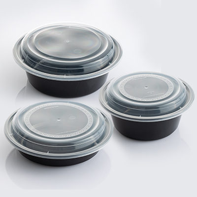 HD MICROWAVABLE  Round Containers